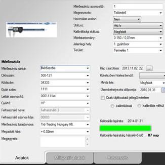 Tolómérők, mikrométerek | M-Gauge mérőeszköz menedzselő szoftver